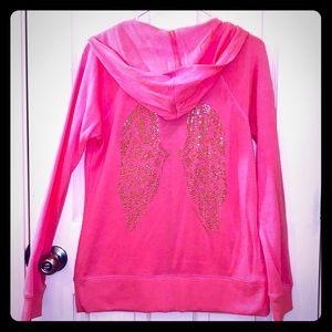 Victoria's Secret Bling Angel Wings Hoodie Jacket!